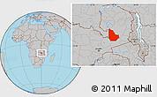 Gray Location Map of Serenje