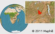 Satellite Location Map of Serenje