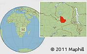 Savanna Style Location Map of Serenje