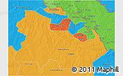 Political 3D Map of Copperbelt