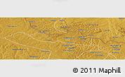 Physical Panoramic Map of Chililbombwe