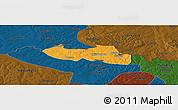 Political Panoramic Map of Chililbombwe, darken