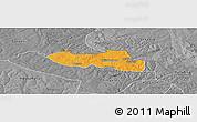 Political Panoramic Map of Chililbombwe, desaturated