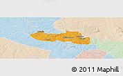 Political Panoramic Map of Chililbombwe, lighten