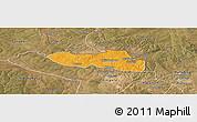 Political Panoramic Map of Chililbombwe, satellite outside
