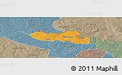 Political Panoramic Map of Chililbombwe, semi-desaturated