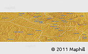 Physical Panoramic Map of Chingola