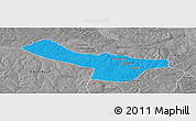 Political Panoramic Map of Chingola, desaturated