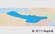 Political Panoramic Map of Chingola, lighten