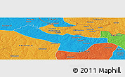 Political Panoramic Map of Chingola