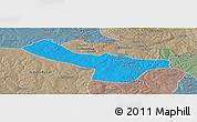 Political Panoramic Map of Chingola, semi-desaturated