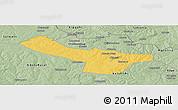 Savanna Style Panoramic Map of Chingola