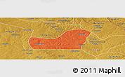 Political Panoramic Map of Kalulishi, physical outside