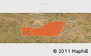 Political Panoramic Map of Kalulishi, satellite outside