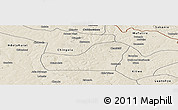 Shaded Relief Panoramic Map of Kalulishi