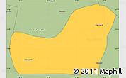 Savanna Style Simple Map of Kalulishi