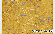 Physical Map of Kitwe