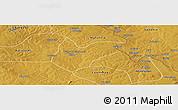 Physical Panoramic Map of Kitwe