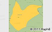 Savanna Style Simple Map of Kitwe