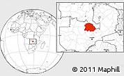 Blank Location Map of Copperbelt