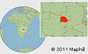 Savanna Style Location Map of Copperbelt