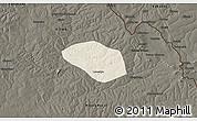 Shaded Relief 3D Map of Luanshya, darken