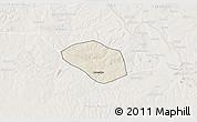 Shaded Relief 3D Map of Luanshya, lighten