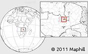 Blank Location Map of Luanshya, highlighted parent region