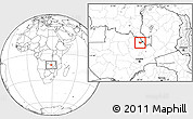 Blank Location Map of Luanshya