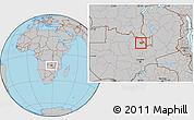 Gray Location Map of Luanshya
