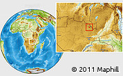 Physical Location Map of Luanshya