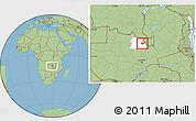 Savanna Style Location Map of Luanshya, highlighted parent region