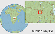 Savanna Style Location Map of Luanshya
