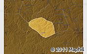 Physical Map of Luanshya, darken