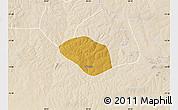 Physical Map of Luanshya, lighten