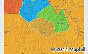 Physical Map of Luanshya, political outside