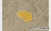 Physical Map of Luanshya, semi-desaturated