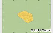 Savanna Style Map of Luanshya, single color outside