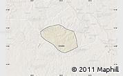 Shaded Relief Map of Luanshya, lighten