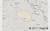 Shaded Relief Map of Luanshya, semi-desaturated