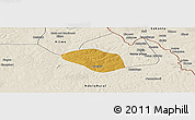 Physical Panoramic Map of Luanshya, shaded relief outside