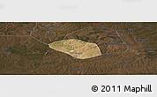 Satellite Panoramic Map of Luanshya, darken