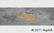 Satellite Panoramic Map of Luanshya, desaturated