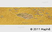 Satellite Panoramic Map of Luanshya, physical outside