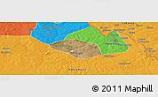 Satellite Panoramic Map of Luanshya, political outside