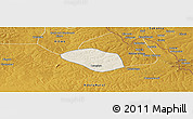 Shaded Relief Panoramic Map of Luanshya, physical outside
