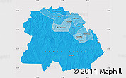 Political Shades Map of Copperbelt, cropped outside