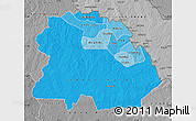 Political Shades Map of Copperbelt, desaturated