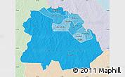 Political Shades Map of Copperbelt, lighten