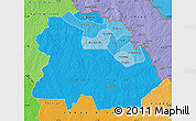 Political Shades Map of Copperbelt